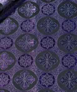 фиолетовая греческая парча