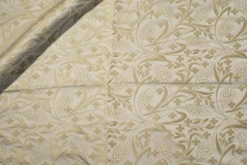греческий шелк серебристо-золотой