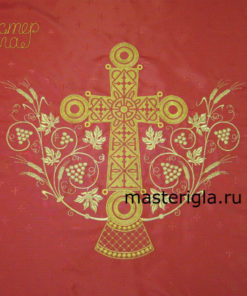 zavesa-nad-tsarskimi-vratami-krasnaya