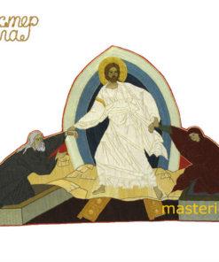 ikona-voskresenie-khristovo-ruchnaya-vyshivka