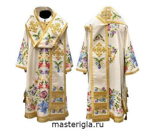 Arkhiereyskoe-oblachenie-beloe-tsvetnaya-vyshivka