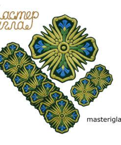 nabor-krestov-diakonskiy-vasilek-zelenyy