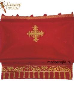 zavesa-na-diakonskie-vrata-krasnaya
