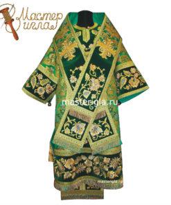 zelenoe-arkhiereyskoe-oblachenie-vyshivka-s-zhemchugom